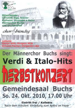 Gastauftritt beim Männerchor Buchs 2010